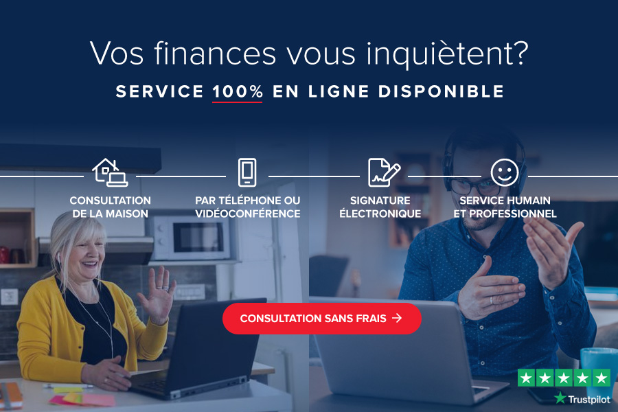 Service 100% en ligne disponible