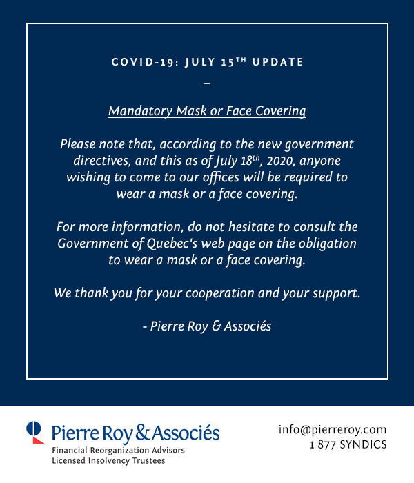 COVID-19: IMPORTANT MESSAGE TO OUR CLIENTS